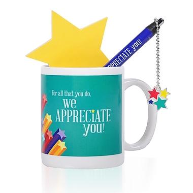 Baudville® Celebration Mug Gift Set, We Appreciate You Stars