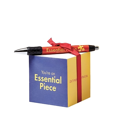 Baudville® Sticky Note Cube With Pen Set, Essential Piece