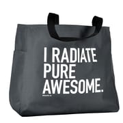 Baudville® Grey Tote Bag, Exclamations - I Radiate Pure Awesome