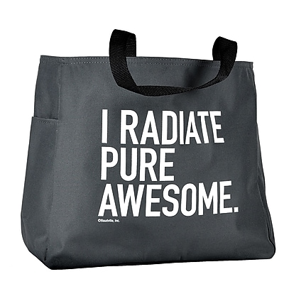 Grey Tote Bag, Exclamations - I Radiate Pure Awesome