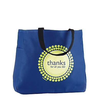 Baudville® Royal Blue Tote Bag, Thanks for All You Do!
