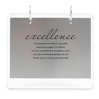Baudville® Silver Photo Flip Frame, Excellence