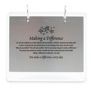Silver Photo Flip Frame, Starfish: Making a Difference