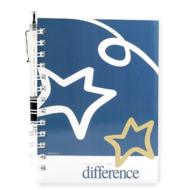 Baudville® Hardcover Journal With Pen, You Make the Difference