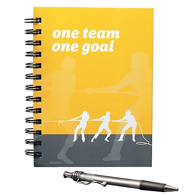 Hardcover Journal With Pen, One Team, One Goal