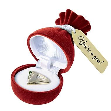 Baudville® Gem Accented Lapel Pin, Diamond: You're a Gem