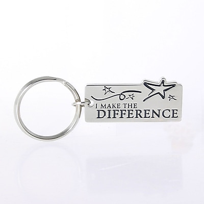 Nickel-Finish Key Chain, I Make the Difference
