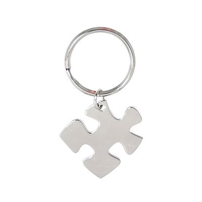 Baudville® Nickel-Finish Key Chain, Essential Piece