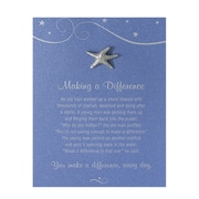 Pewter Character Pin With Card, Starfish: Making a Difference - Blue Card