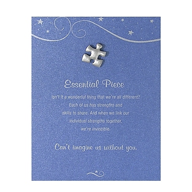 Pewter Character Pin With Card, Essential Piece - Blue Card