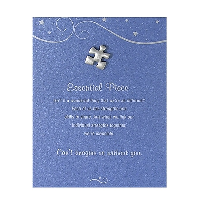 Baudville® Character Pin W/ Card, Essential Piece - Blue Card