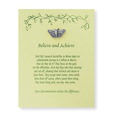 Pewter Character Pin With Card, Monarch: Butterfly Believe & Achieve