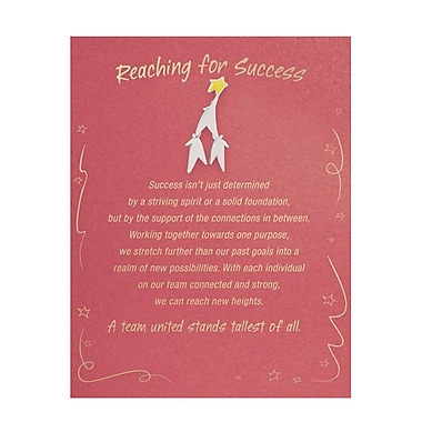 Baudville® Character Pin With Card, Reaching for Success
