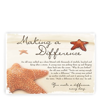 Baudville® Character Pin W/ Card, Starfish: Making a Difference