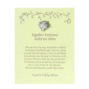 Pewter Character Pin With Card, Geese: Together Everyone Achieves More