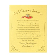 Baudville® Character Pin W/ Card, Red Carpet Service