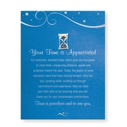 Baudville® Character Pin W/ Card, Hourglass Your Time is Appreciated