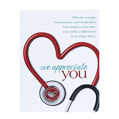 Baudville® Character Pin W/ Card, Stethoscope We Appreciate You