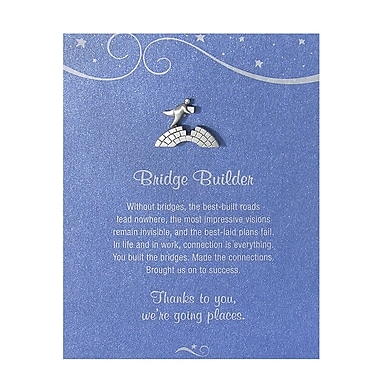 Baudville® Pewter Character Pin With Card, Bridge Builder