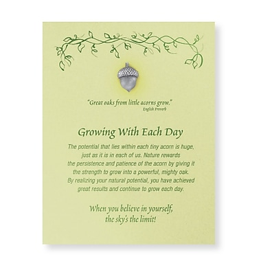 Pewter Character Pin With Card, Growing With Each Day