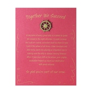 Baudville® Character Pin W/ Card, Ship's Wheel Together We Succeed