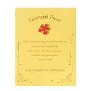 Semi Cloisonne Character Pin With Card, Essential Piece - Gold Card