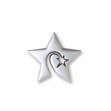Baudville® Lapel Pin, Swirly Star