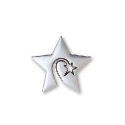 Lapel Pin, Swirly Star