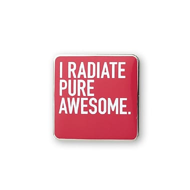 Lapel Pin, I Radiate Pure Awesome