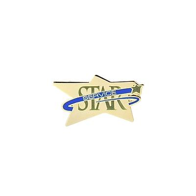 Baudville® Multi-Color Lapel Pin, Star Service
