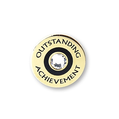 Baudville® Lapel Pin, Outstanding Achievement With Gem