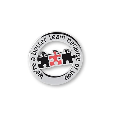 Baudville® Lapel Pin, Better Team Round