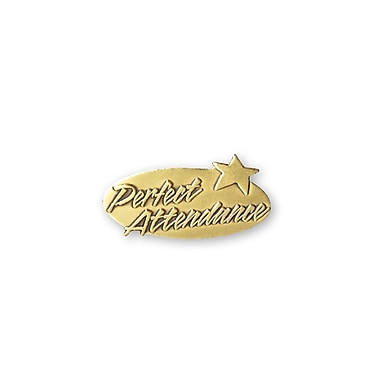 Baudville® Lapel Pin, Perfect Attendance