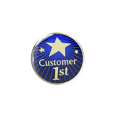Baudville® Multi-Color Lapel Pin, Customer 1st