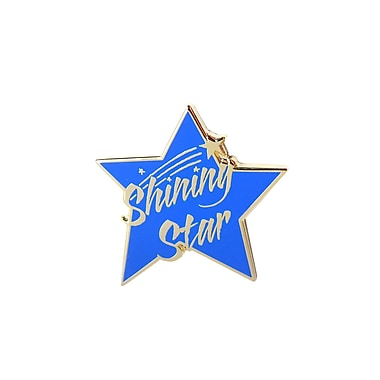 Baudville® Lapel Pin, Shining Star Blue