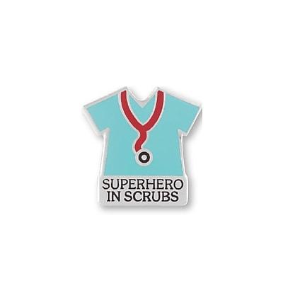 Baudville® Lapel Pin, Superhero in Scrubs