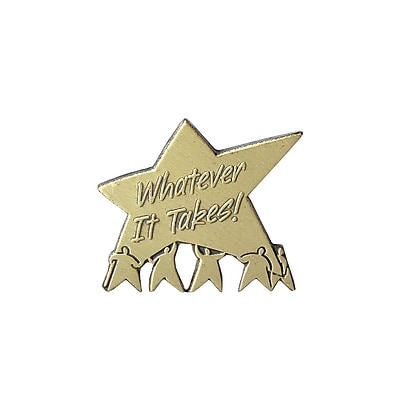 Baudville® Lapel Pin, Whatever It Takes