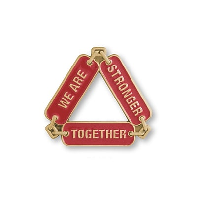 Lapel Pin, Stronger Together Chain