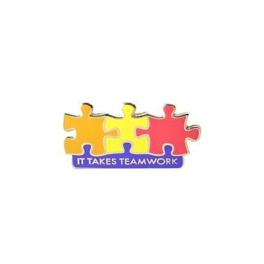 Baudville® Lapel Pin, It Takes Teamwork