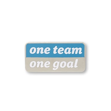 Baudville® Lapel Pin, One Team, One Goal Words