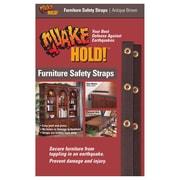 "Ready America™ QuakeHOLD!™ 15"" Furniture Strap Kit, Antique Brown"