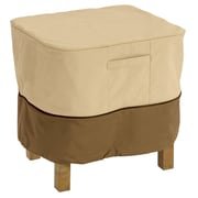 Classic® Accessories Veranda Polyester Large Square Patio Ottoman/Table Cover, Pebble/Bark/Earth
