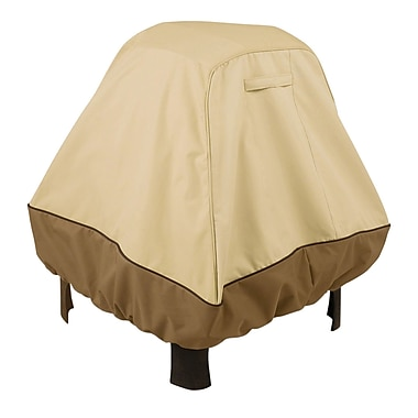 Classic® Accessories Veranda Polyester Fabric X-large Stand Up Fire Pit Cover, Pebble/Bark/Earth