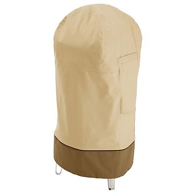 Classic® Accessories Veranda Woven Polyester Fabric Smoker Cover, Pebble/Bark/Earth
