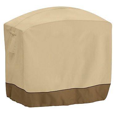 Classic® Accessories Veranda Woven Polyester Fabric Grill Cover, Pebble/Bark/Earth
