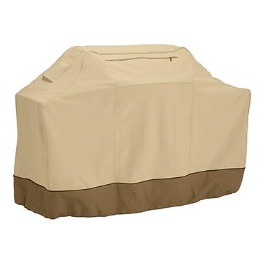 Classic® Accessories Veranda Woven Polyester Fabric Medium Grill Cover, Pebble/Bark/Earth