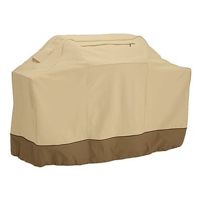 Classic® Accessories Veranda Woven Polyester Fabric Medium Grill Cover, Pebble/Bark/Earth