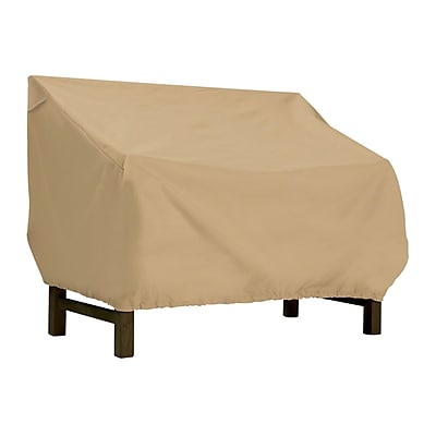 Classic® Accessories Terrazzo Fabric Medium Bench/Loveseat Cover, Sand