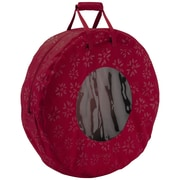 Classic® Accessories Seasons Medium Wreath Storage Bag, Cranberry
