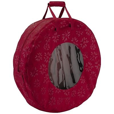 Classic® Accessories Seasons Medium Wreath Storage Bag, Cranberry